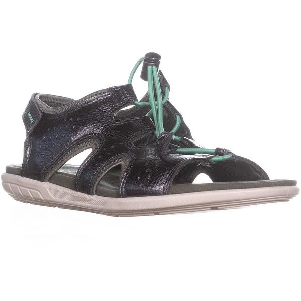 ECCO Footwear Bluma Sandal Sport Sandals, Dark Shadow Metallic - 8 us / 39 eu