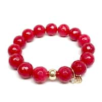 "Red Quartz Lauren 7"" Bracelet"