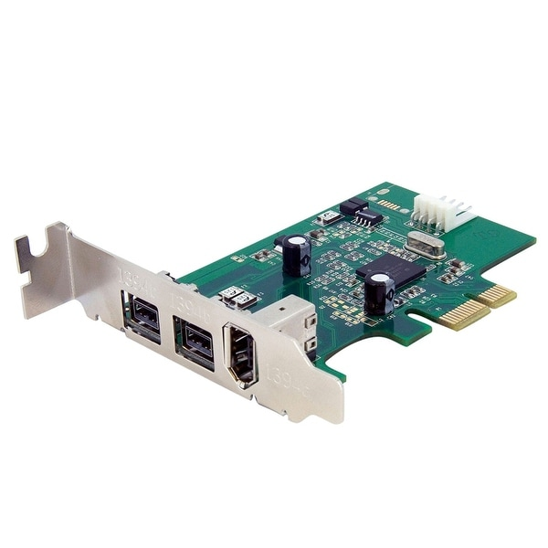 Startech Pex1394b3lp 3 Port 2B 1A Low Profile 1394 Pcie Firewire Card Adapter