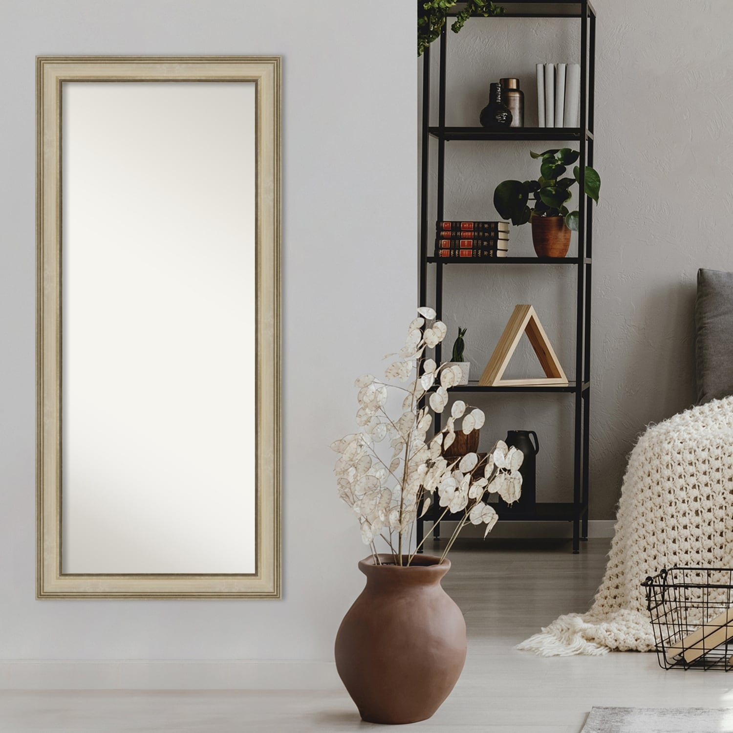 Colonial Light Gold Decorative Full Length Floor Leaner Mirror Colonial Light Gold Overstock 31481810