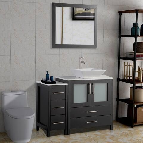 Vanity Art 42-Inch Modern & Slim Single Sink Bathroom Vanity Set