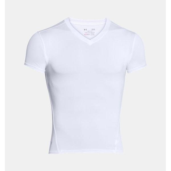 Shop Under Armour Tactical HeatGear Compression V-Neck T-Shirt White ... 961a59bd1