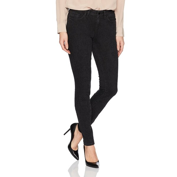 42e7d7084e4c1d Shop William Rast Black Womens Size 29x30 Textured Perfect Skinny ...