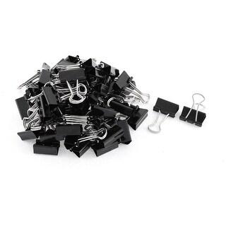 Unique Bargains 60pcs 20mm Metal Desk Paper Document Office Stationery Binder Clips Black