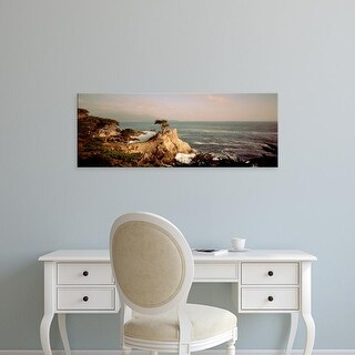 Easy Art Prints Panoramic Images's 'View of a cliff along the sea, Seven Mile Beach, California' Premium Canvas Art
