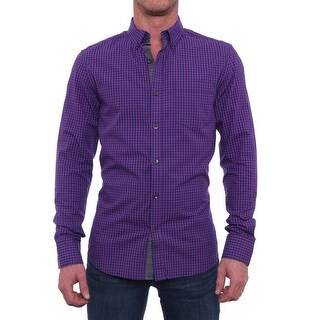 Kenneth Cole Reaction Long Sleeve Collared Button Down Men Regular