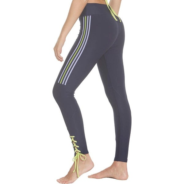 Splendid Women's Striped Lace Up Quick Dry Activewear Fitness Legging - Peacoat. Opens flyout.