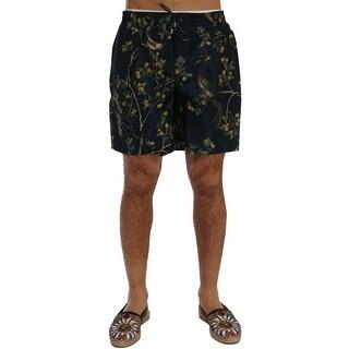 Dolce & Gabbana Blue Bird Beachwear Swimshorts