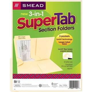 (3 Pk) Smead 3N1 Supertab Section Manila Folder