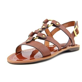 Charles By Charles David Anna Women Open Toe Leather Brown Gladiator Sandal