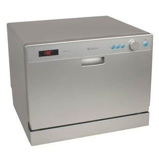 EdgeStar DWP61E 22 Inch Wide 6 Place Setting Countertop Dishwasher with Compact Countertop Design