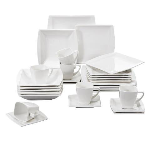 MALACASA Blance 30-Piece Dinnerware Set (Service for 6)