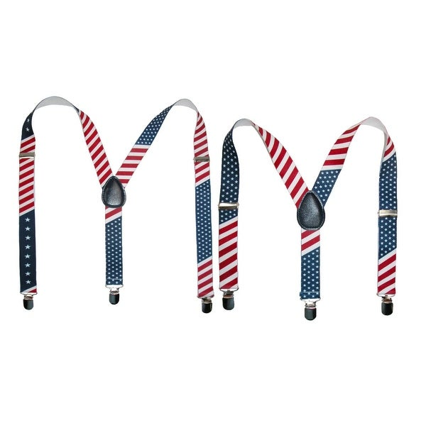 CTM® Parent & Childs Matching Stars & Stripes American Flag Suspenders - One size