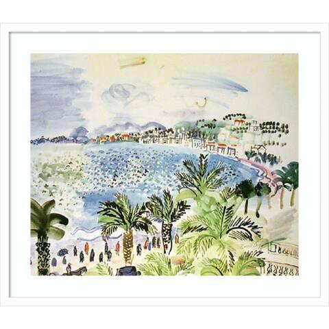 La Promenade des Anglais by Raoul Dufy 29-inch x 25-inch Framed Wall Art Print