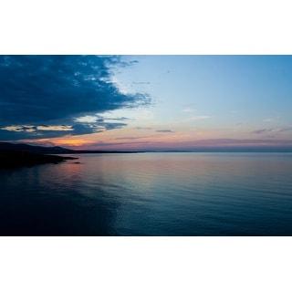Ocean & Sunset Canvas Print Wall Art