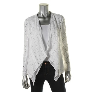 Pure DKNY Womens Cut-Out Open Front Casual Blazer - S