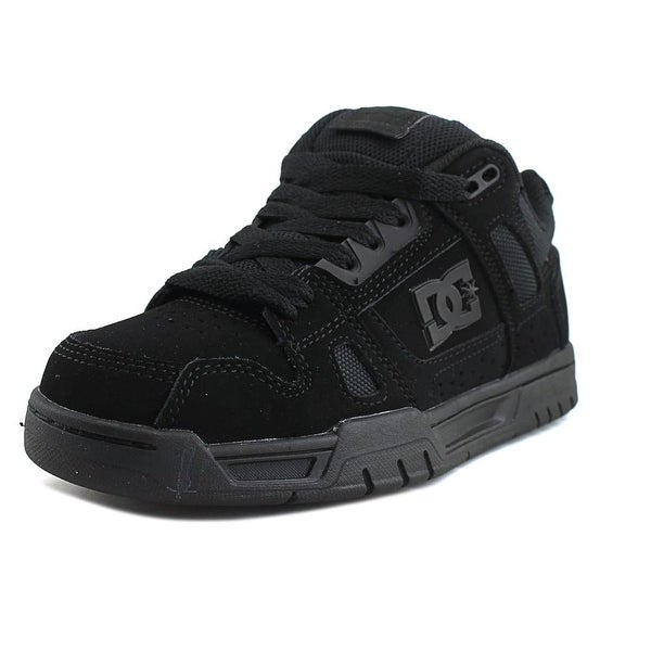 DC Shoes Stag Men Round Toe Synthetic Black Skate Shoe