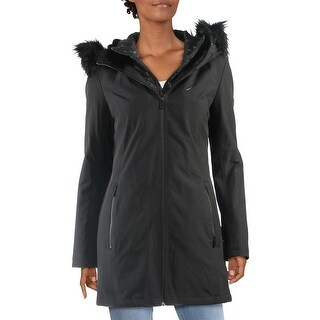 Link to Sandro Womens Parka Coat Water Resistant Anorak - Black Similar Items in Women's Outerwear