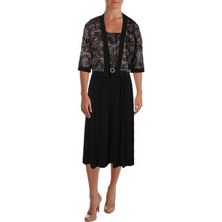R&M Richards Womens Dress With Jacket Matte Jersey Sequined - 12