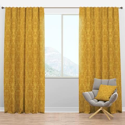 Designart 'Luxury Golden Floral' Glam Blackout Curtain Panel