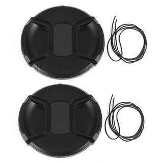 Unique Bargains 2 x DSLR Camera Front Lens Protective Cap Cover 82mm for Video Camcorders