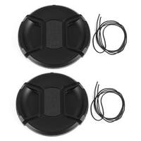 Unique Bargains 2 x DSLR Camera Front Lens Protective Cap Cover 82mm for Video Camcorders