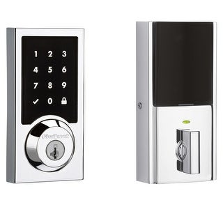 Kwikset 915CNT-S SmartCode Contemporary Touchscreen Electronic Deadbolt with Smartkey and SecureScreen Technologies - N/A