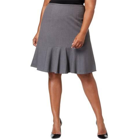 Nine West Womens Stretch Flared Skirt
