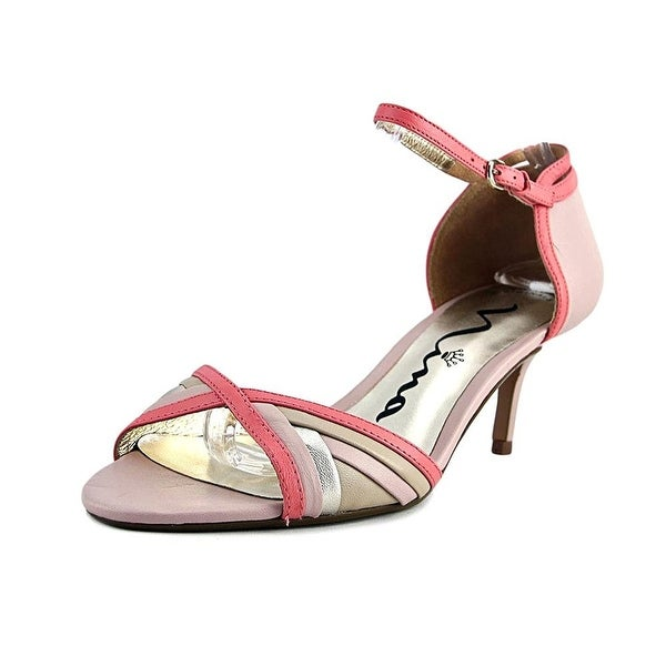 Nina Chantelle Open-Toe Leather Heels - 8.5
