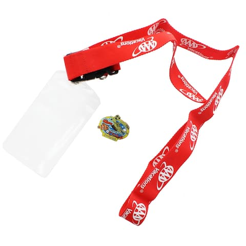 Disney AAA Vacations Lanyard w/ Finding Nemo Collector Pin - Multi