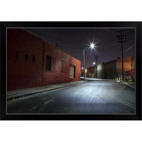 """Lonely Industrial Street, California"" Black Framed Print"