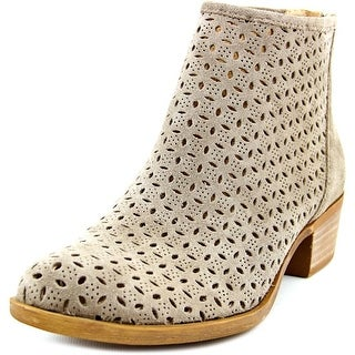 Lucky Brand Bergyn Round Toe Leather Bootie