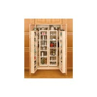 "Rev-A-Shelf 4WP18-51-KIT 4WP Series 51"" Tall Swing Out Pantry Cabinet Organizer Set with Hardware - Natural"