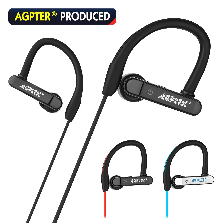 Shop Agptek Waterproof Bluetooth Earbuds Beats Sports Wireless Headphones In Ear Headsets Color Black Overstock 22967250