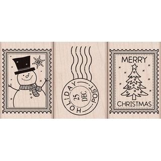 "Hero Arts Mounted Rubber Stamp Set 2""X1.5""-Christmas Post"