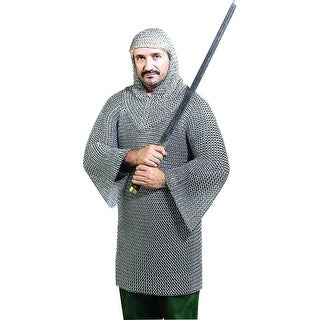 Deco 79 Metal Chainmail Tunic and Hood Costume, Set of 2