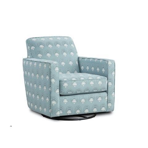 Chantilly Mist Swivel Glider Accent Chair