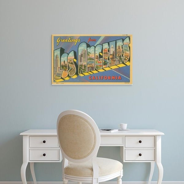 Easy Art Prints Unknown's 'Greetings from Los Angeles' Premium Canvas Art