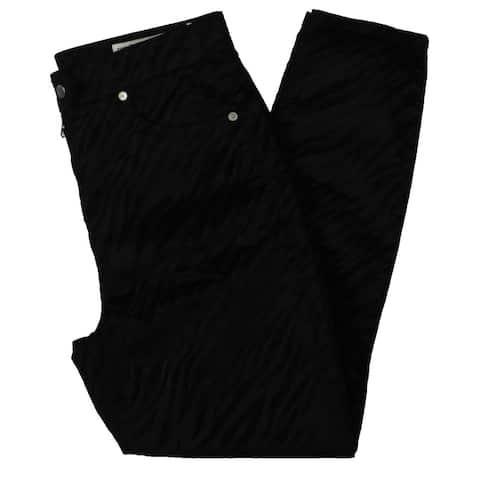 Rag & Bone Womens Nina High-Waist Jeans Animal Print Ankle - Black