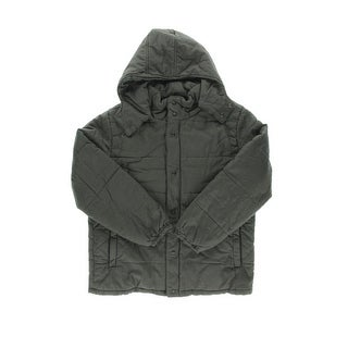 Matchstick Mens Hooded Long Sleeves Coat - L