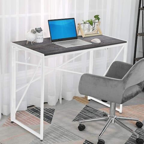 NOVA FURNITURE Folding Home Office Industrial Computer Desk, Writing Desk