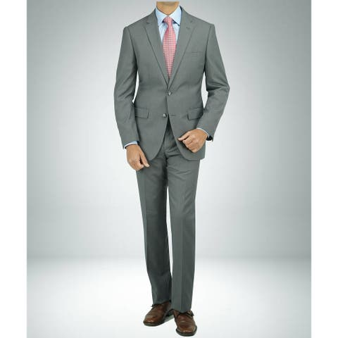 Carlo Studio Taupe houndztooth Modern-Fit Suit