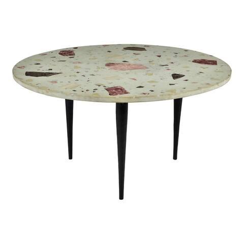 Aurelle Home Metina Modern Terrazzo Top Coffee Table
