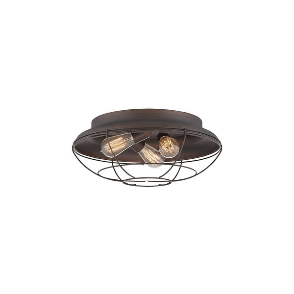 "Millennium Lighting 5387 Neo-Industrial 3-Light 17"" Wide Flush Mount Ceiling Fixture - N/A"