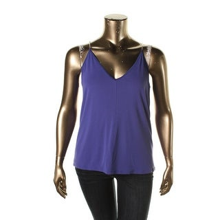 Rachel Roy Womens Chain Detail Open back Pullover Top