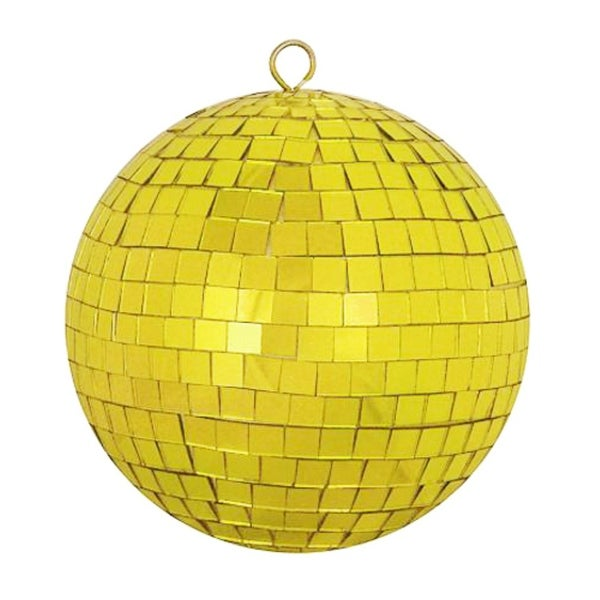Gold Mirrored Glass Disco Ball Christmas Ornament (150mm )