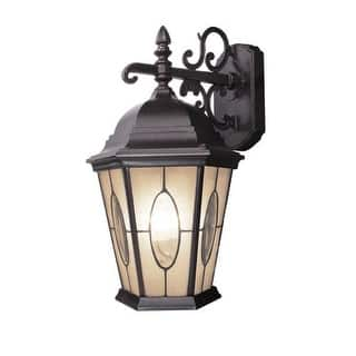 Woodbridge Lighting 62001-VRT 1 Light Outdoor Wall Sconce with Ripple Effect Glass from the Basic Outdoor Collection|https://ak1.ostkcdn.com/images/products/is/images/direct/012ef80cd1249eeba0bbc890308e37a36742e442/Woodbridge-Lighting-62001-VRT-1-Light-Outdoor-Wall-Sconce-with-Ripple-Effect-Gla.jpg?impolicy=medium