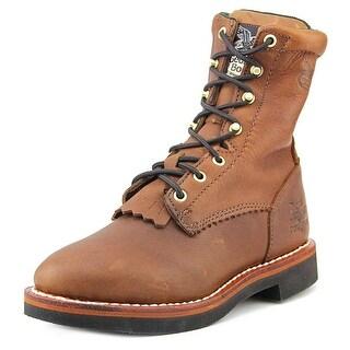 Georgia Boot G3114 Women W Round Toe Leather Brown Work Boot