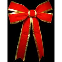 Christmas at Winterland WL-BOW-60-RE/GO 60 Inch Red with Gold Trim Holiday Bow