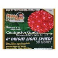"""Holiday Bright Lights SLS-50-RD Starlight Spheres, 6"""", 50 Red Lights"""